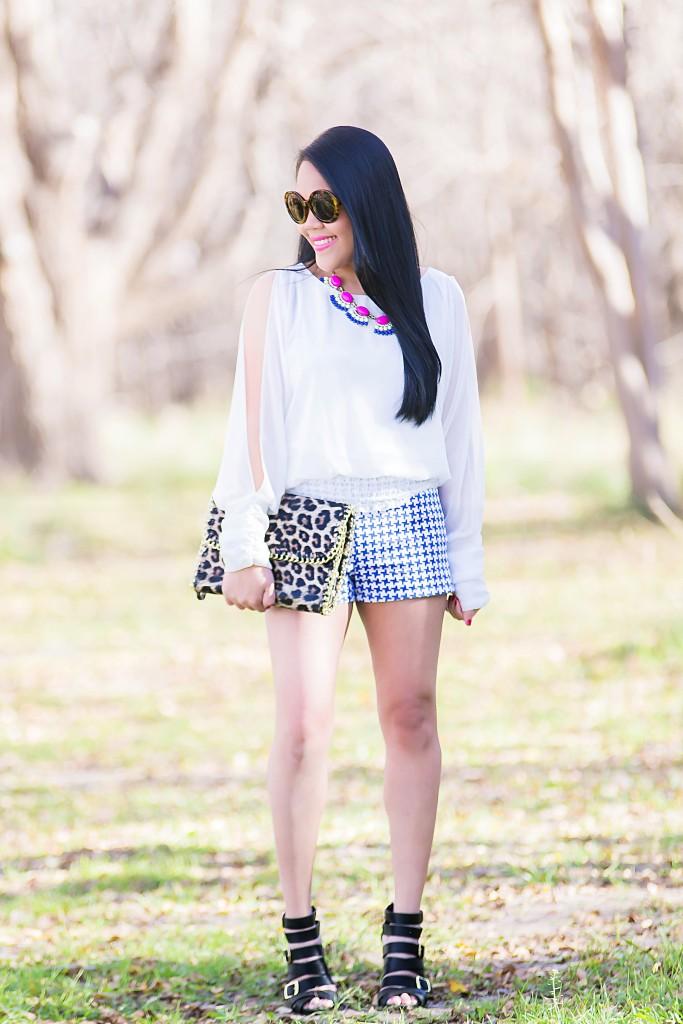 Shorts and leopard …