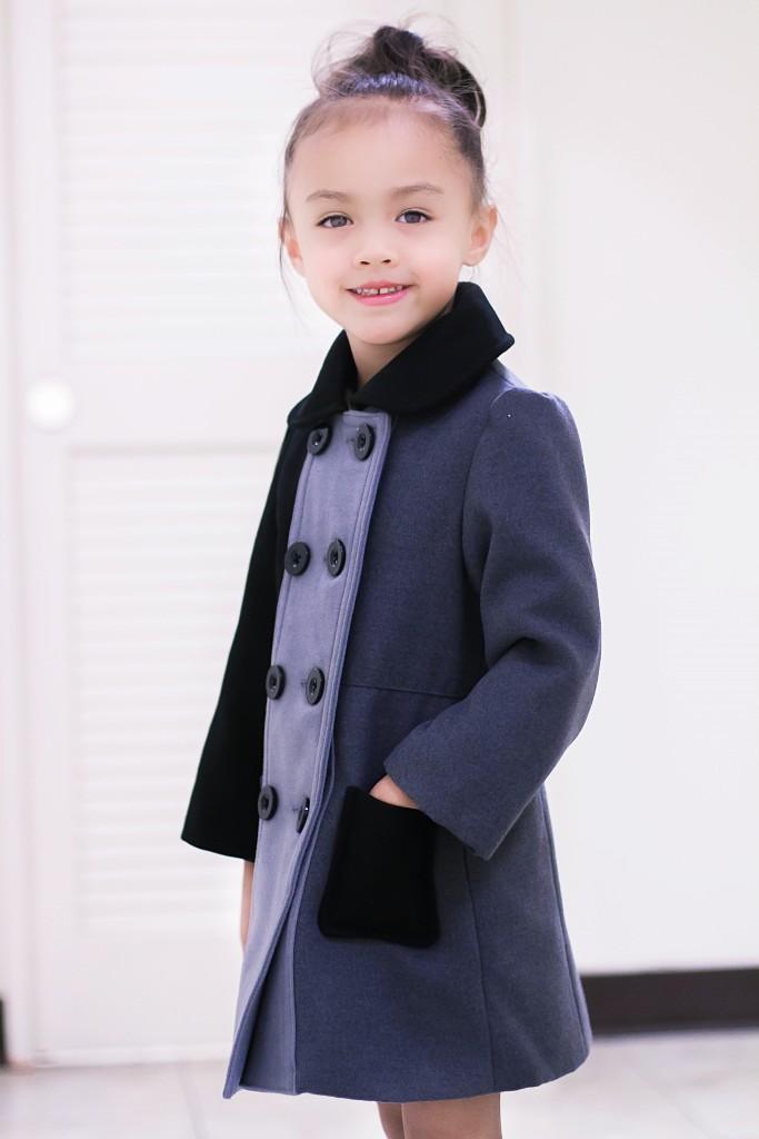 Purple boots + Cooper Key Coat