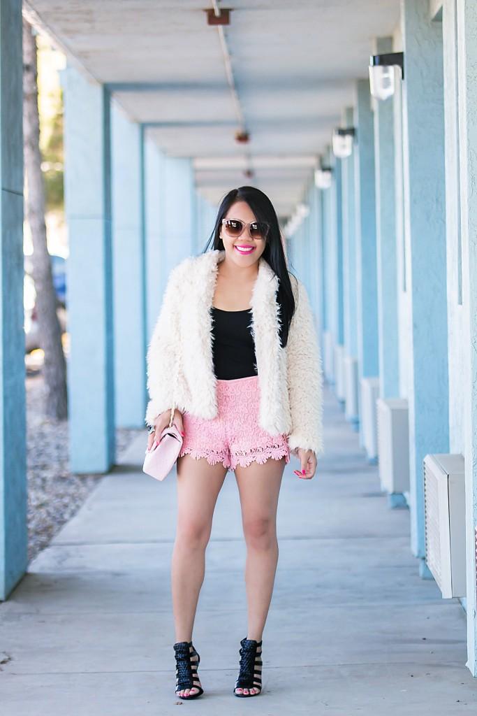 lace shorts..