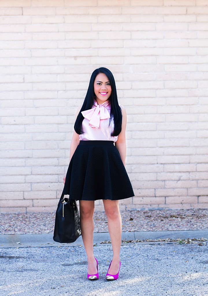Black flowy skirt!