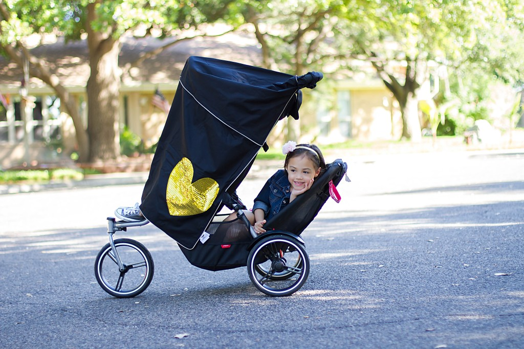 Heart of Gold: Little Dream Bird Stroller Cover