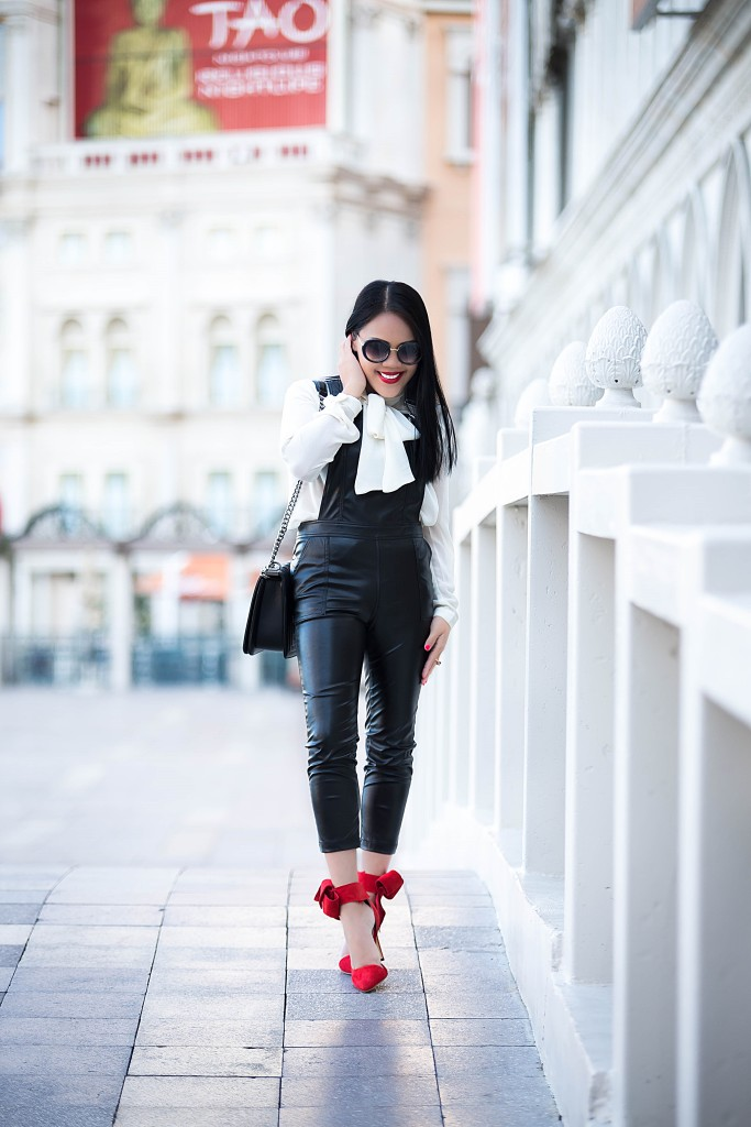 Black & white + Red