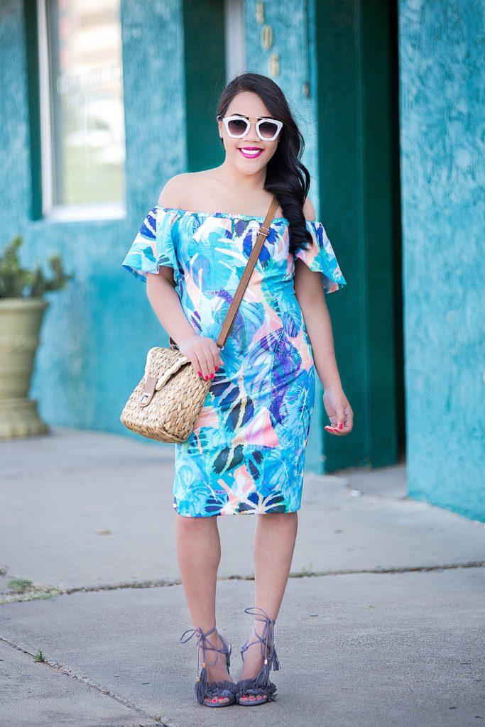 off-the-shoulder dress