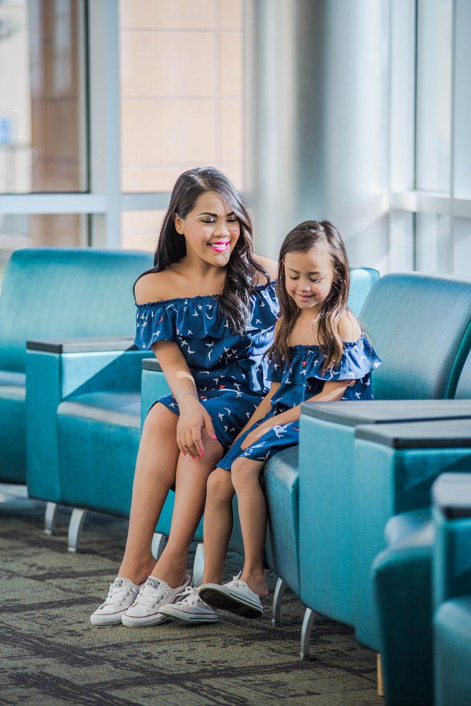 Mama / daughter twinning: Envie de fraise