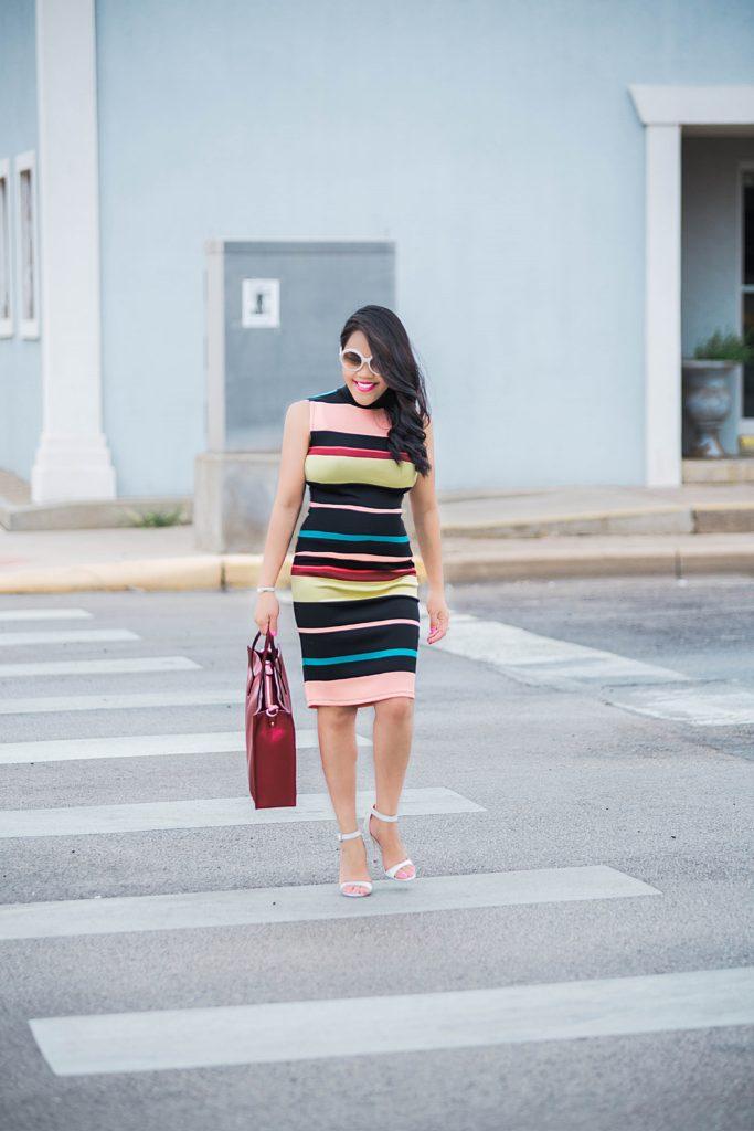 stylewe: striped & wine red