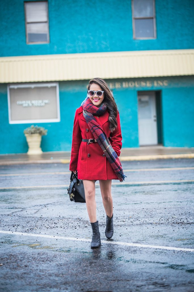 Little Red Coat + A'GACI City Stride Bootie