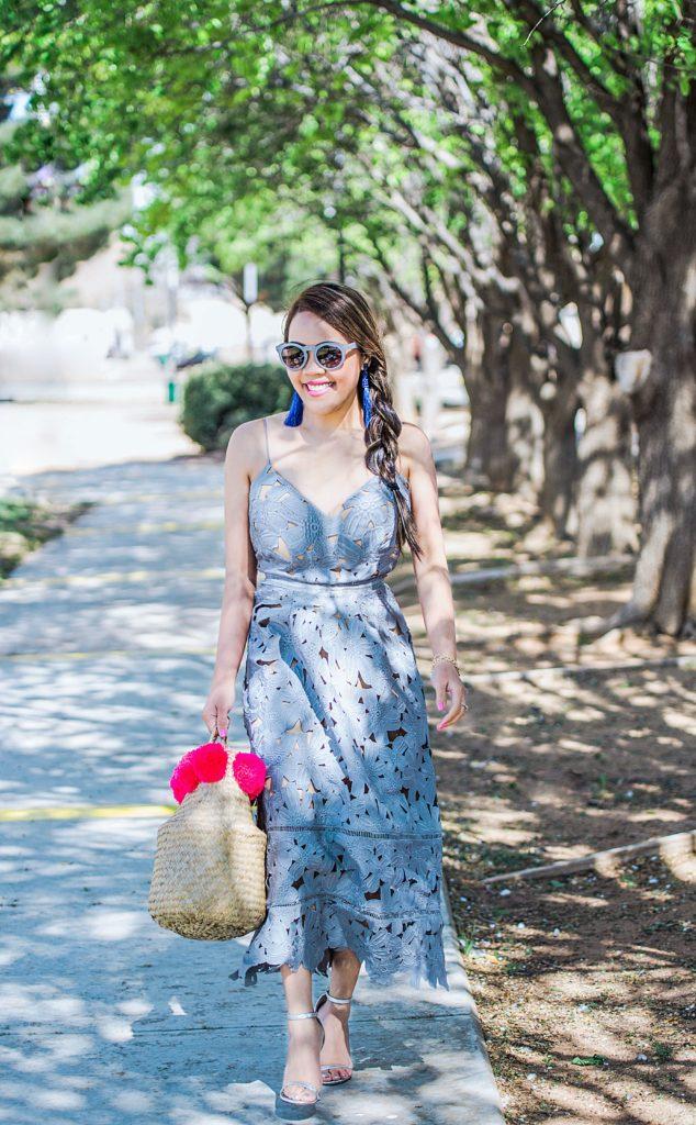 NA-KD Boho Crochet Floral Dress