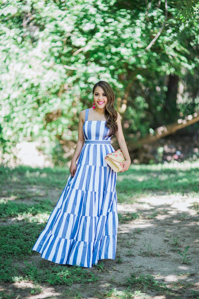Eliza J Stripe Maxi Dress