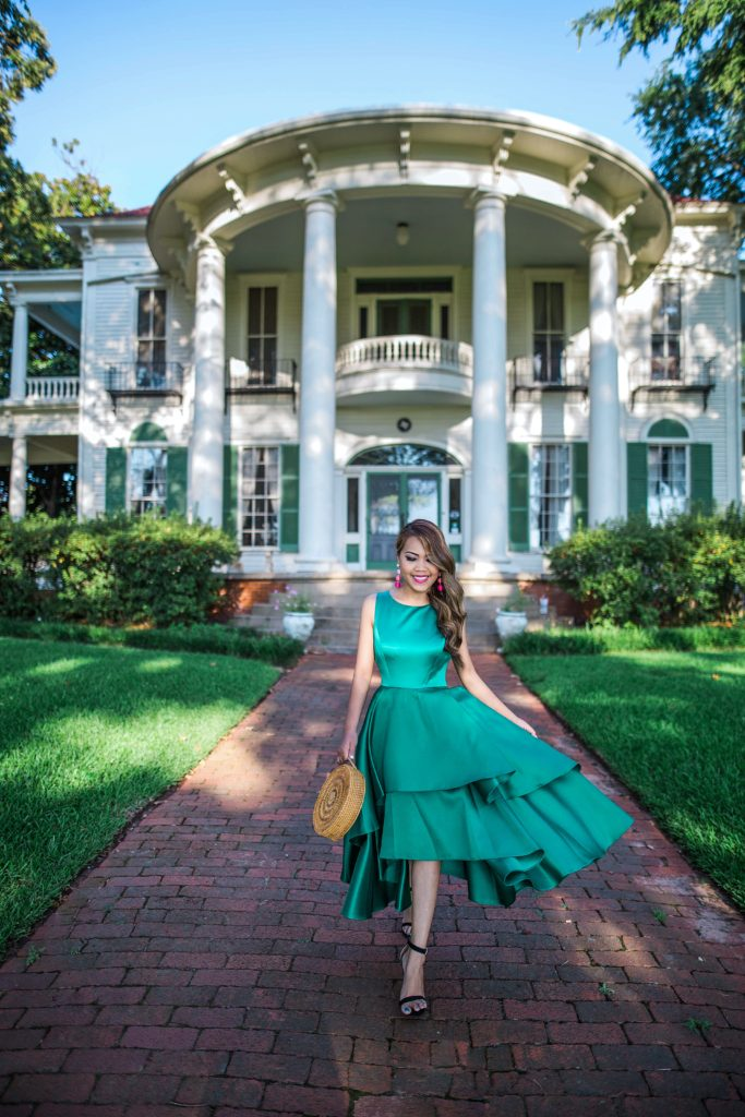 Adrianna Papell Emerald Dress