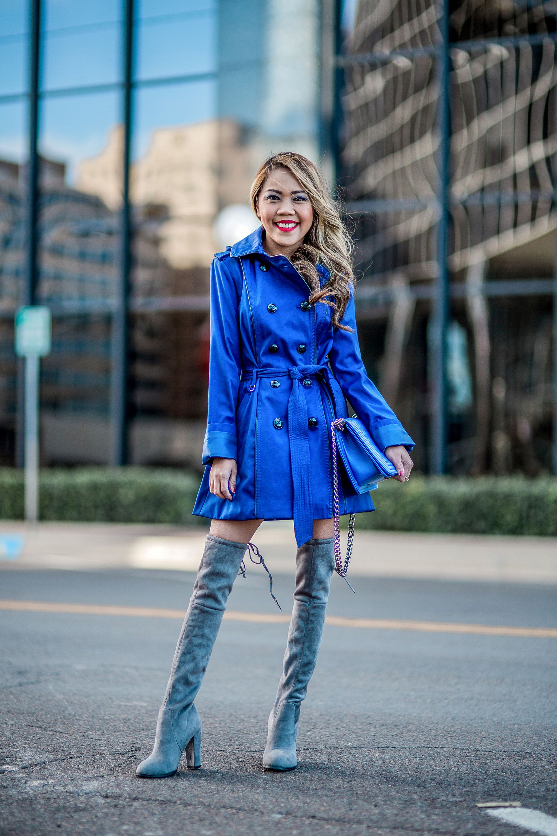 Blue Trench Coat + Thanksgiving