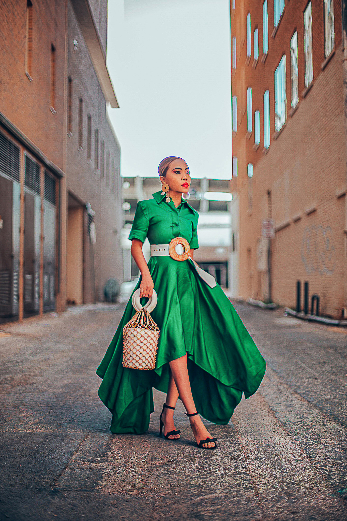 HOW TO STYLE A GREEN DRESS
